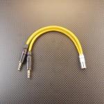 Pono式 – Astell&Kern式 バランス変換ケーブル Mogami2520 オレンジゴールド プラグ肩~肩15cm