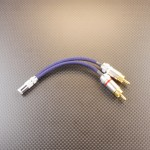 ifi iDSD (RCA x2) – Astell&Kern式 GND分離変換ケーブル Mogami2520 ネイビーブルー プラグ肩~肩10cm