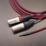 SENNHEISER HD598用 XLR3極バランスケーブル Mogami2799 300cm ワインレッド