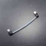 USB OTGケーブル2種 Belden1804A & 4N純銀単線 両端L型MicroUSB プラグ端~端10cm