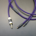 SHURE SRH1540用ケーブル Mogami2799(core) 120cm 紫鱗
