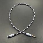 3.5mm4極 – 3.5mm3極 変換ケーブル Mogami2944(core) 40cm ブラック&ホワイト