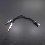 AK100mk2, AK120等用 GND分離 – 2.5mm4極ジャック 変換ケーブル 10cm ブラック
