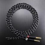 SHURE SRH1840用 TEAC UD-503 デュアルモノラルバランスリケーブル Mogami2944 210cm リフレクト・ブラック
