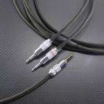 DENON AH-D7100用 OPPO HA-2 GND分離接続対応ケーブル Mogami2799 300cm オリーブグリーン