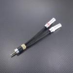 3.5㎜3極x2(PHA-3バランス) – 2.5㎜4極 変換ケーブル Belden87761 プラグ肩~肩6cm ブラック