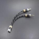 CHORD Mojo GND分離接続 変換ケーブル Mogami2534  8cm リフレクト・ブラック