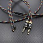 "SHURE SE535LTD用MMCX PonoPlayerバランスケーブル Mogami2799 130cm レインボー(dark) ""015"""