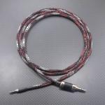 SENNHEISER HD8DJ用ケーブル Mogami2799 120cm ちりめん黒地に赤白波紋柄
