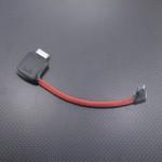 SONY WMC-NWH10 ボディ短縮 プラグL-L化 リケーブル Belden1804A 8.5cm レッド