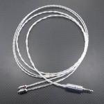 MMCXケーブル オヤイデ4N純銀撚り線ツイスト 120cm、MDR-EX1000系 MMCX極短変換アダプタ