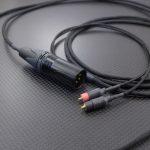 Pioneer SE-Master1用バランスケーブル オヤイデAg+OCCツイスト 250cm ブラック