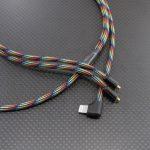 "SHURE SE535LTD等汎用 Lightning MMCXケーブル Mogami2799 レインボー(dark) 100cm ""079"""