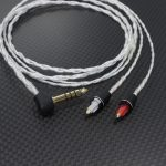 E4UA製 オヤイデ4N純銀撚り線ケーブル プラグ交換 SONY MDR-EX1000 ストレートダウン用 4.4mm5極バランスケーブル