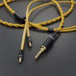 audio-technica ATH-LS200 ATH-LS50 A2DCケーブル オヤイデ HPC-28-2U オレンジゴールド 再ツイスト *Numberd