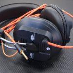 Fostex T40RPmk3n GND分離化 及び専用バランスケーブル製作 Mogami2799 リフレクト・オレンジ *Numberd