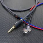 UE 5Pro用 4.4mm5極バランスケーブル ACROLINK銀メッキ7NOCC&オヤイデ102SSC撚り線ツイスト アッシュ・レッド・ロイヤルブルー編組チューブ仕上げ *Numberd