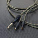 SHURE SRH1540用4.4mm5極バランスケーブル Belden1804A デジタルカモ *Numberd