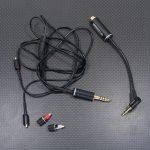 SONY MDR-EX1000純正ケーブル(RK-EX1000LP)改修 MMCX変換アダプタ製作、純正ケーブルのMMCX・4.4mm5極化、4.4mm5極ジャック取り付け