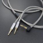 beyerdynamic T5p 2nd Generation用 4.4mm5極バランスケーブル Belden1804A メタル編組チューブ仕上げ  *Numberd