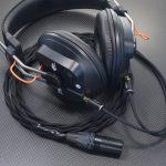 FOSTEX T50RPmk3g 両出しGND分離デタッチャブル化・リケーブル化 専用ケーブル製作 カナレL-4E5Cツイスト