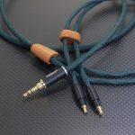 audio-technica ATH-ADX5000用ケーブル Mogami2534 ハンターグリーン