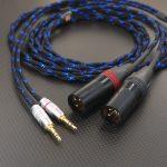 DENON AH-D600 AH-D7200用ケーブル Mogami2799x2 ブラック・メタリックブルー 200cm *Numberd