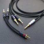 ONKYO DP-X1対ELEKIT TU-HP02 2台 Bi-AMP接続用ケーブル 及び TU-HP02 2台対DENON AH-MM400接続用ケーブル   Belden1804A