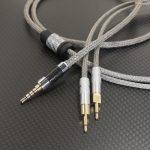 Audio Quest Nighthawk Carbon 用ケーブル ACROLINK銀メッキ7NOCCツイスト メタル編組チューブ仕上げ  / Alessandro MS-2 2.5mm2極デタッチャブル化