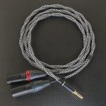 4.4mm5極 対 XLR3極プラグx2 インターコネクトケーブル Mogami2944 デュアルモノラル 鱗