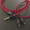 Fostex TH909用ケーブル ACROLINK 7NOCC ワインレッド