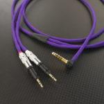 audio-technica ATH-R70x用 4.4mm5極バランスケーブル Mogami2799 パープル