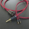 JVC HA-FX1100用ケーブル ACROLINK銀メッキ7NOCC&オヤイデ102SSC撚り線1:1ツイスト ワインレッド *Numberd