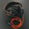 AKG K712 Pro 3.5mm3極 両出しデタッチャブル化 専用バランスケーブル製作 Belden1804A オレンジ